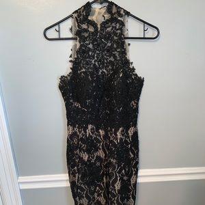 Black Lace Formal Dress SIZE 3/4